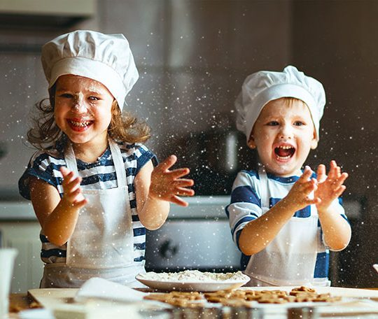 Kids Working With Food