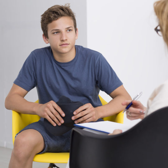 Therapy session with a teenager